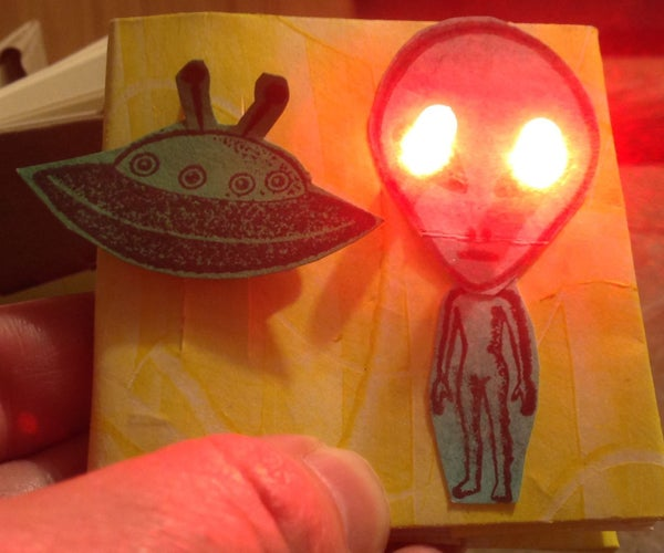 Paper Circuitry:  Light-Up Book With LEDs and a Switch