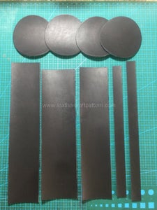 Cut All Leather Pieces From Acrylic Pattern.