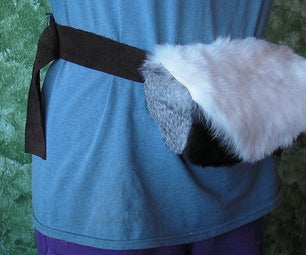 Fur and Leather Fanny Pack