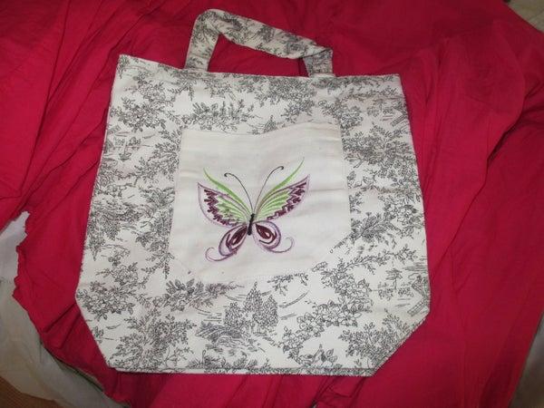Decorative Pocket for a Canvas Bag