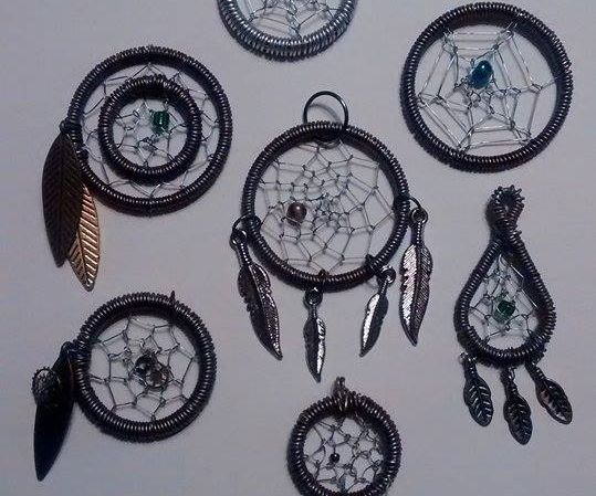 Wire Wrapped Dreamcatcher Pendant