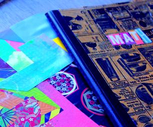 DIY笔记本封面装饰