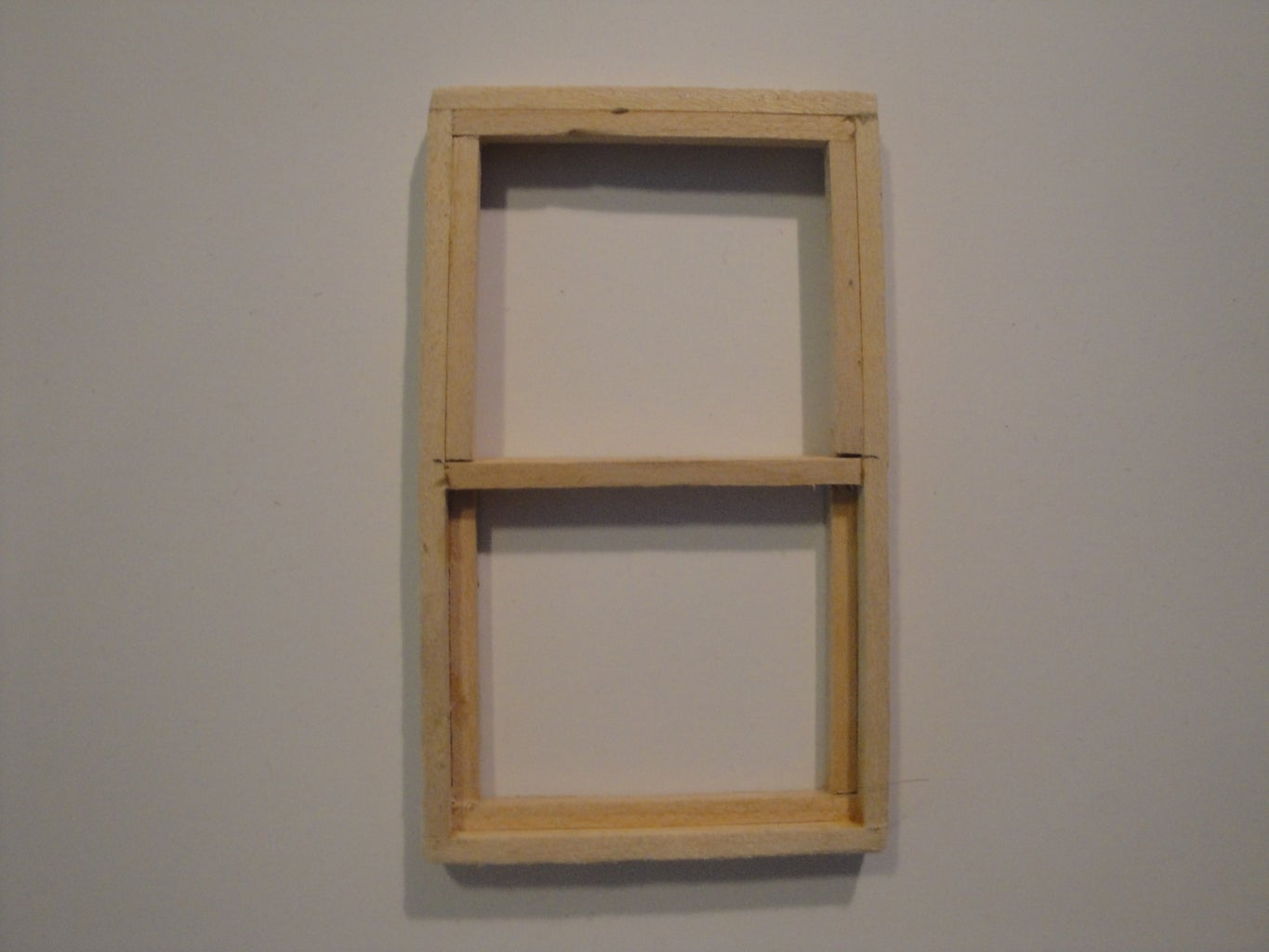 """3/4"""" Scaled - Double Hung Window"""
