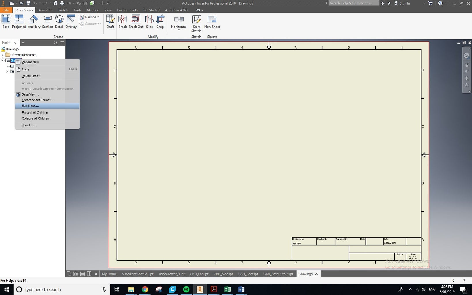Step 3: Making the Bases (designing the Template)