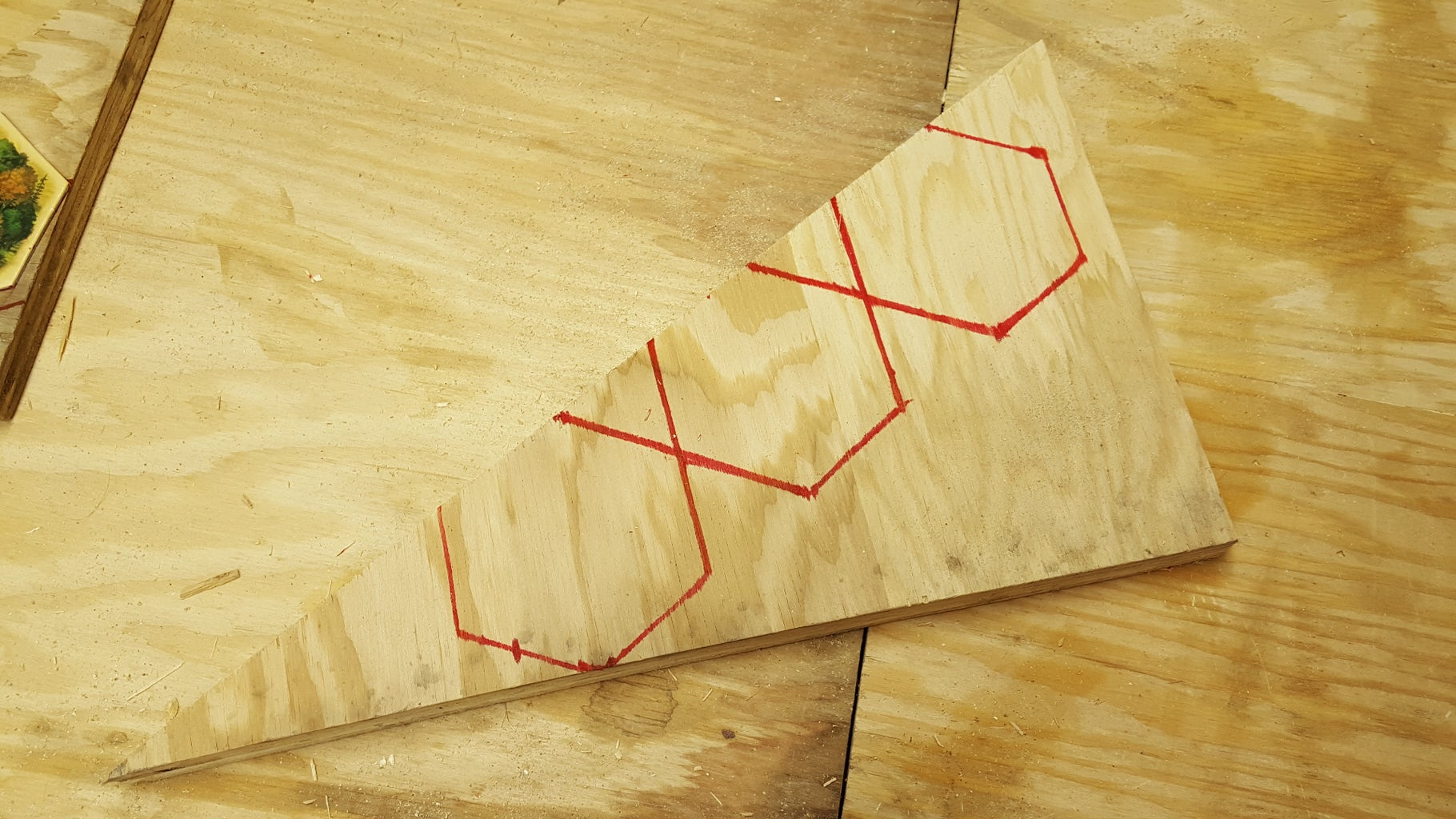 Trace & Cut Out the Inside Pieces of the Board