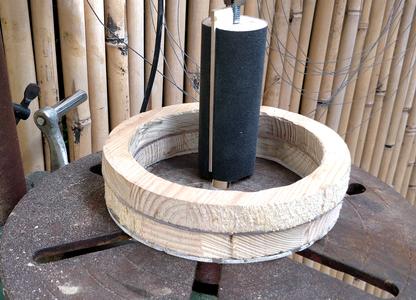 Second Inner Sanding Using the Drum Sander