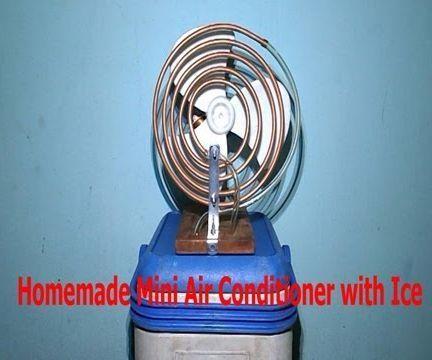 Homemade Air Conditioner with Ice None Peltier Chiller Free Energy Mini USB Fridge Frefrigerator