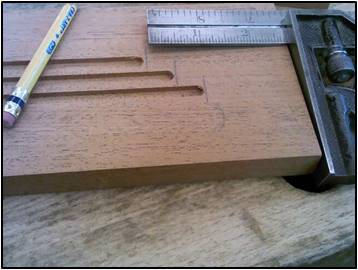Square the Ends of the Inlay Grooves