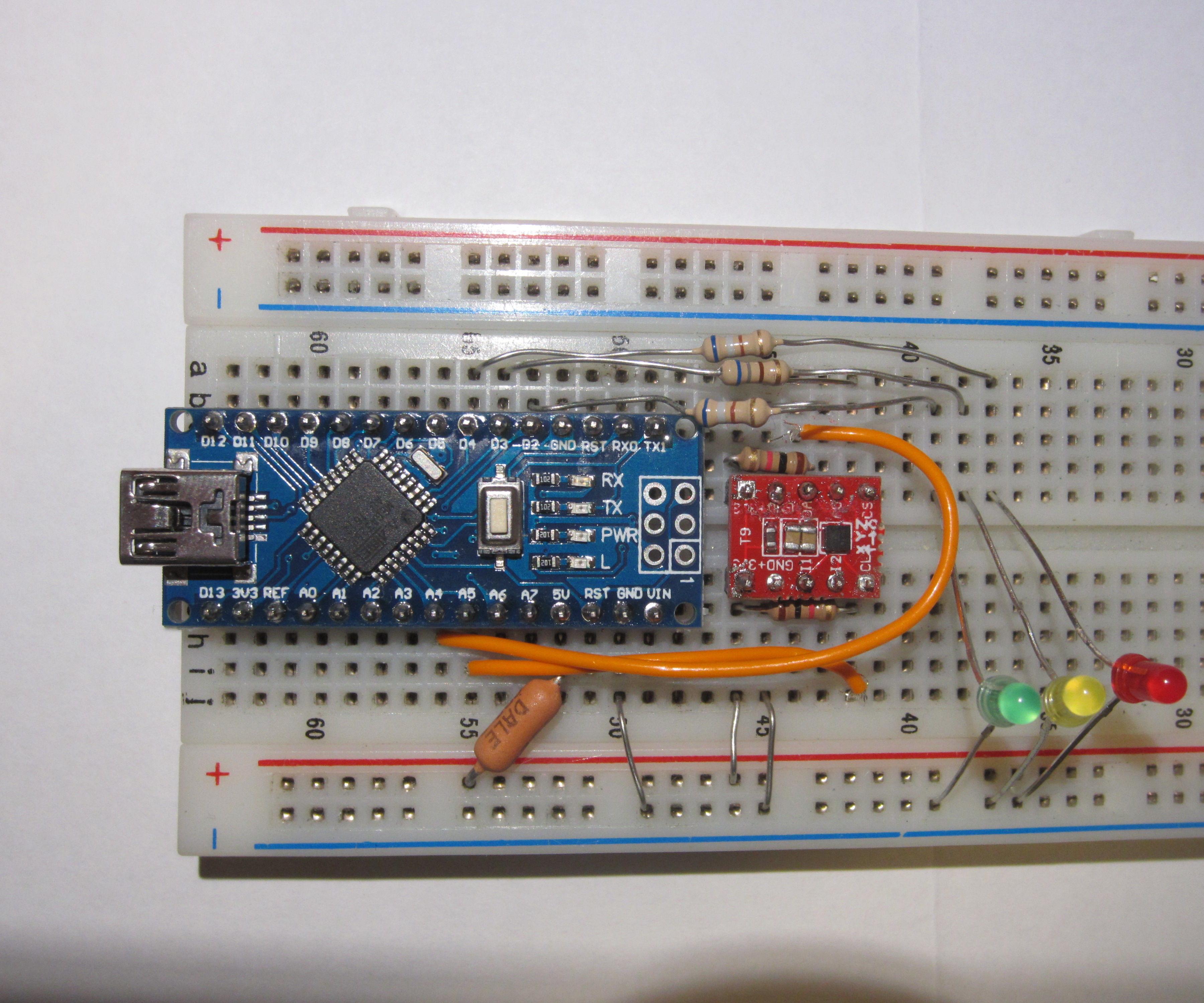 Basic Arduino Earthquake Detector