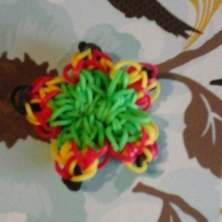 Rainbow Loom Hibiscus Charm