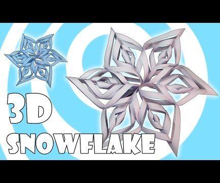 EASY 3D Paper Snowflake (xmas Decoration)