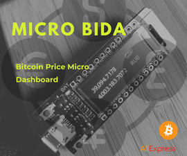 Micro BiDa - Bitcoin Price Micro Dashboard