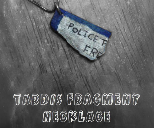TARDIS Fragment Necklace