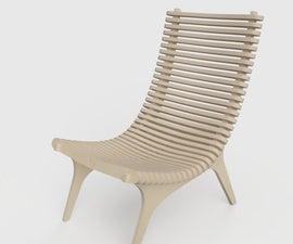 Curvy Plywood Chair CNC