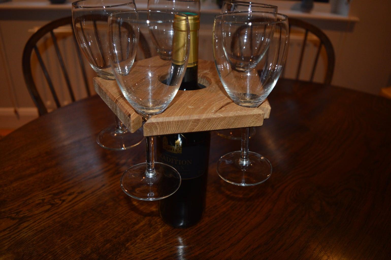 Make an Elegant Wine Glass Holder From White Oak