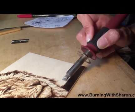 Pyrography: How To Burn Smooth Rich Black Backgrounds