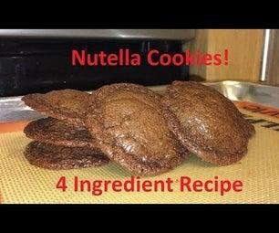 Tutorial:  4 Ingredient Nutella Cookies!