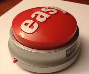 """DIY """"Anything"""" Staples Easy Button (voice Recording)"""