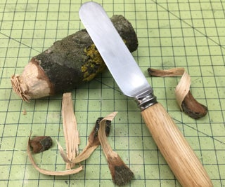 Upcycled Kid's First Knife - With Custom Oak Handle