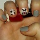 Reindeer Nail Art Tutorial | Samantha Beauty