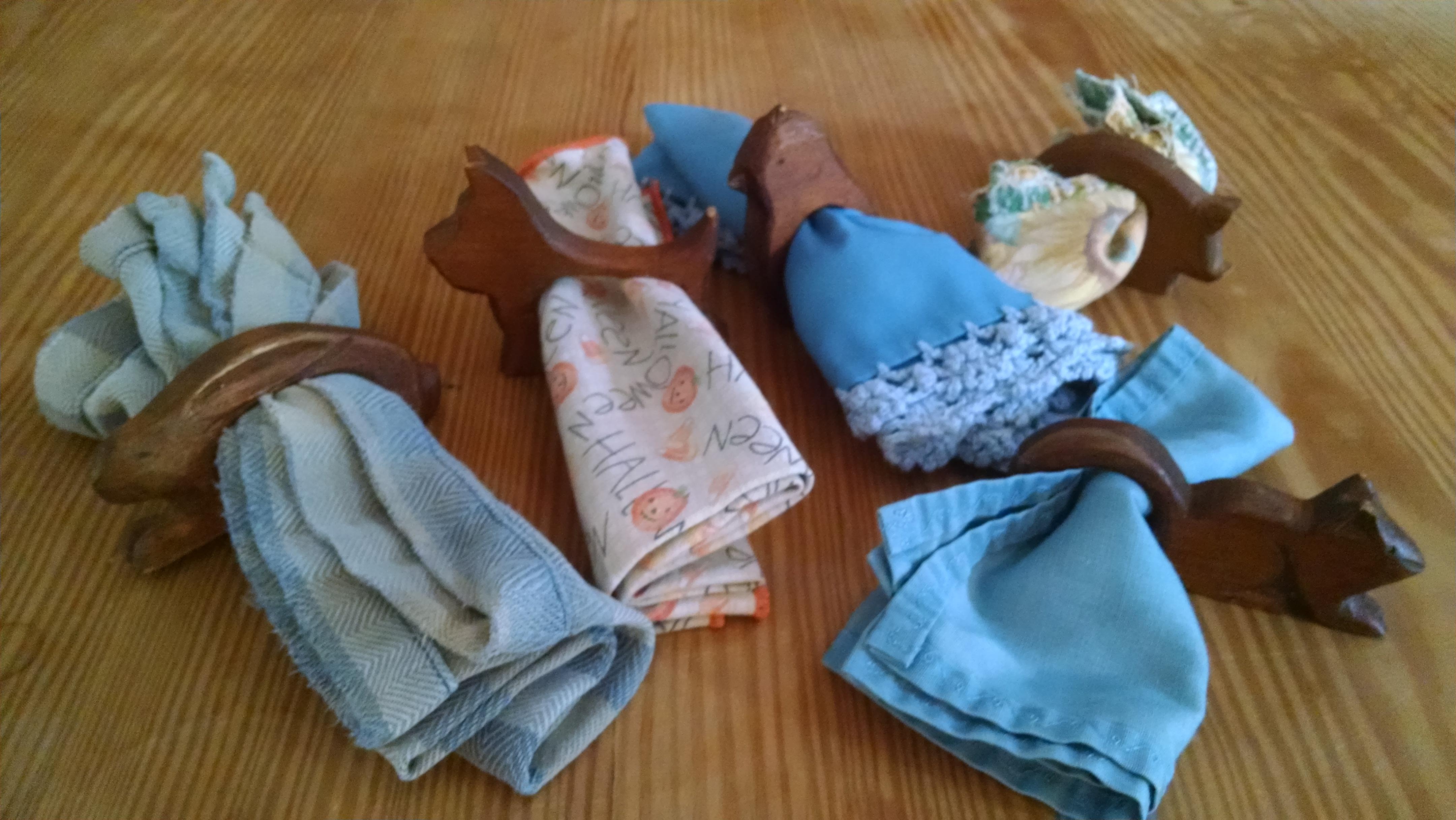 Rustic napkin holders