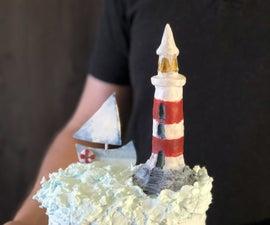 Lighthouse From Chocolate Fondant