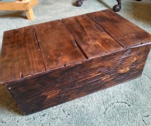 Wine Box Into Rustic Wood Box