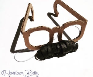 TUTORIAL: Cardboard Glasses and 3D Paper Mustache