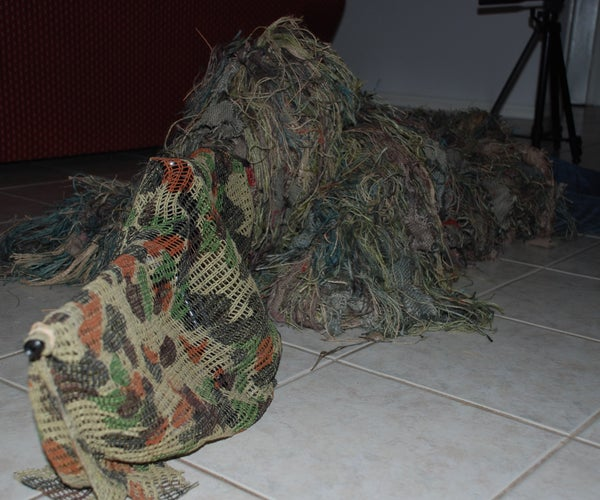All Ghillied Up..Want to Look Like a Real Sniper?
