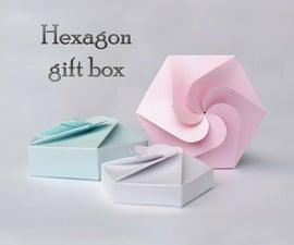 Hexagon Gift Box + Template