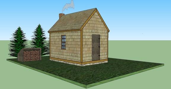 Thoreau Off-Grid Cabin Design Under $1000