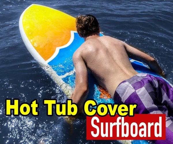 用浴缸盖和窗帘DIY冲浪板