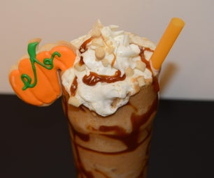 Pumpkin Milkshake With Boba Inspired Mini Cookie Balls