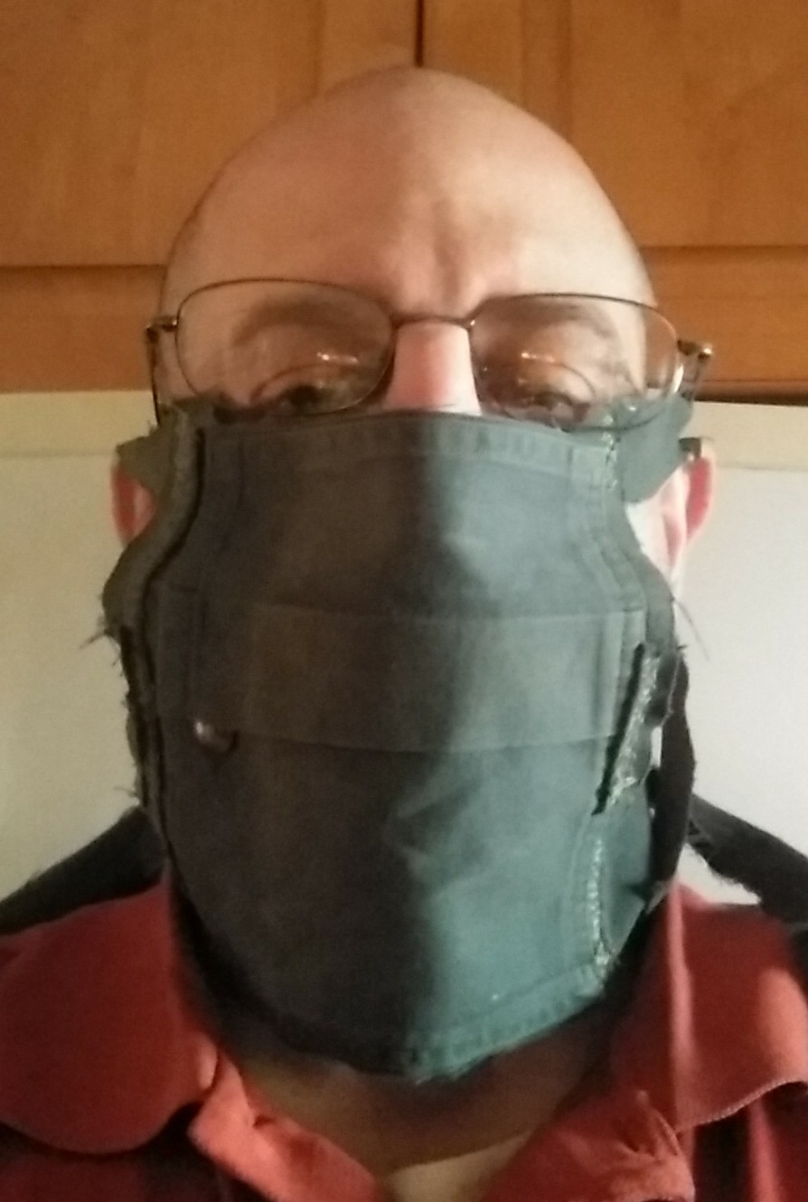 Simple Facemask From Old Shirt for Coronavirus, Version 1