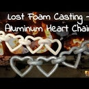 Valentines day - Aluminum Heart Chain