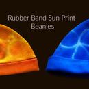 Rubber Band Sun Print Beanies