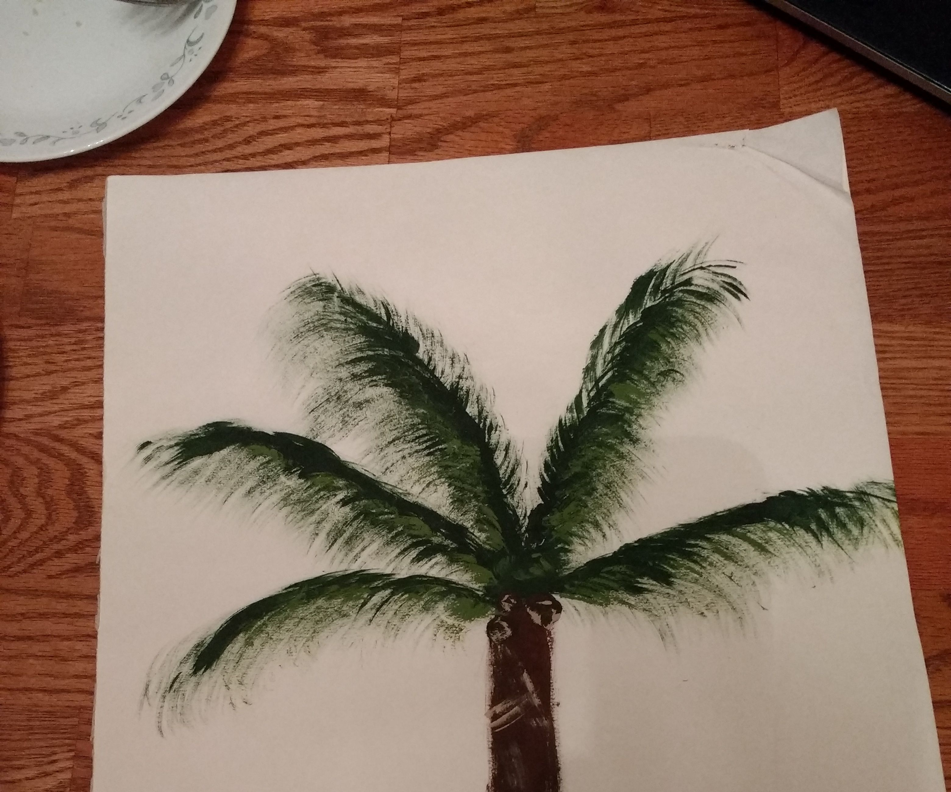 How To Paint A Palm Tree 10 Steps Instructables