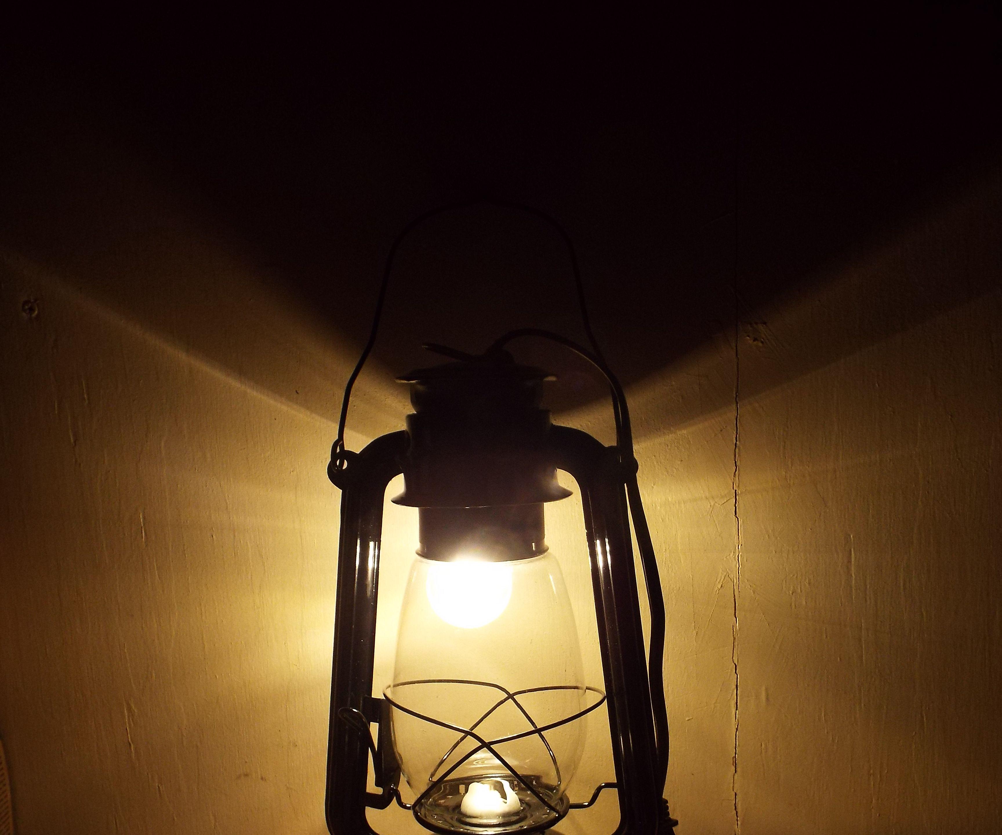 Kerosene Lantern Wall Sconce