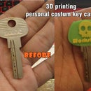 3d printing personal costume key case, new metode how to add object inside 3d printing in solid not modular