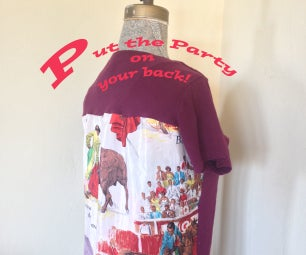 Add a Vintage Scarf to the Back of Your Tee