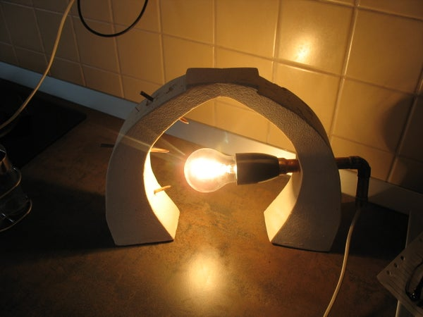 Spiked Concrete Lamp