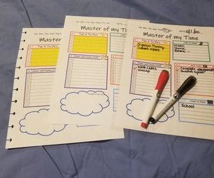 时间管理-计划器页面(3种方式)