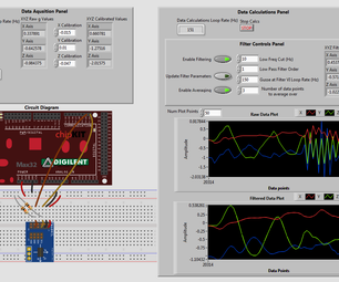 Filtering Accelerometer Noise in LabVIEW