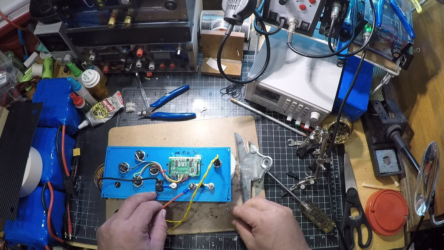 Solder the Main Wires That Go to the D3808 & Front Panel