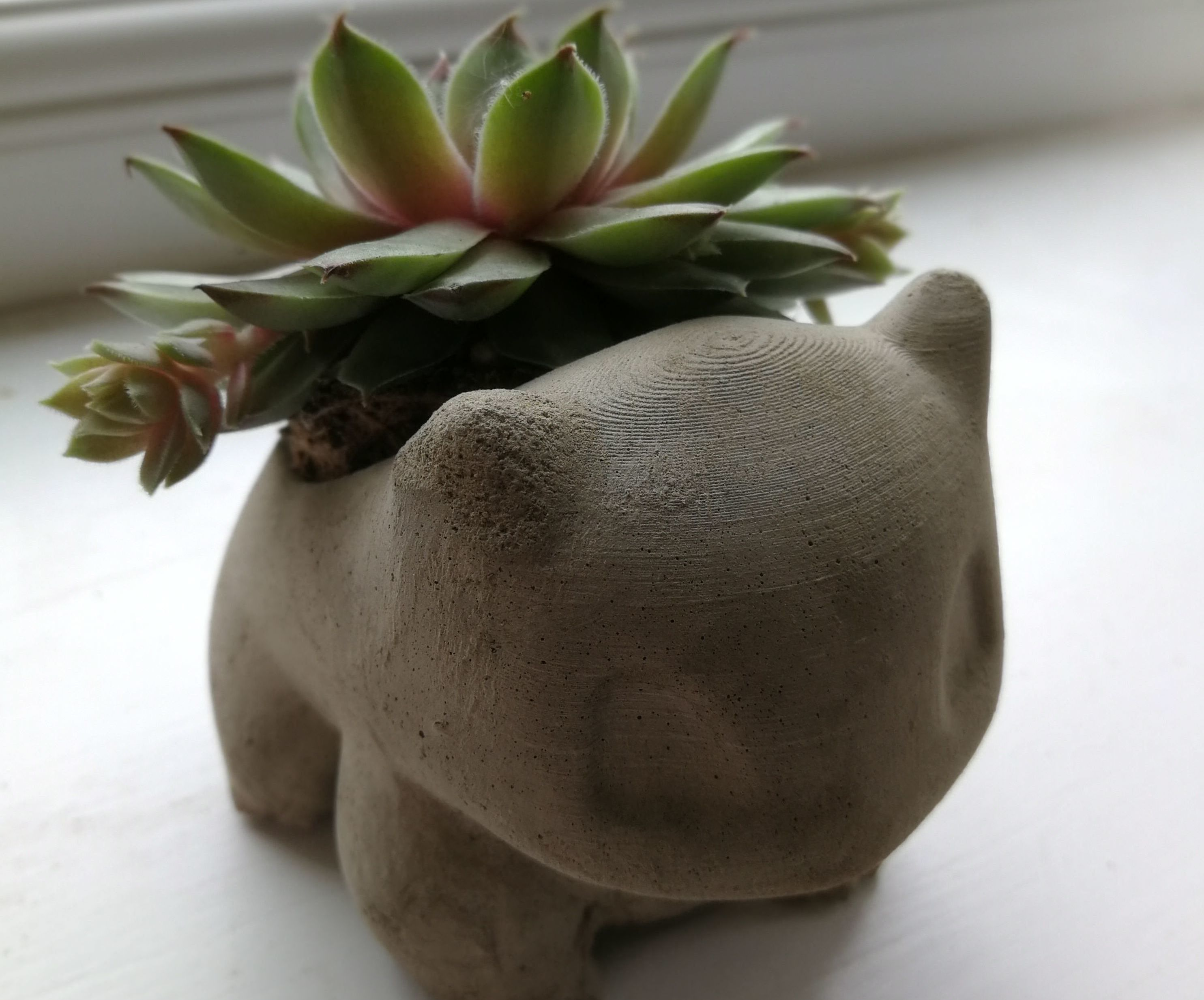 Concrete Bulbasaur Planter From DIY Silicone Mold