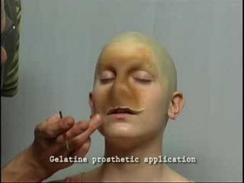 Using gelatin for moulds and prosthetics