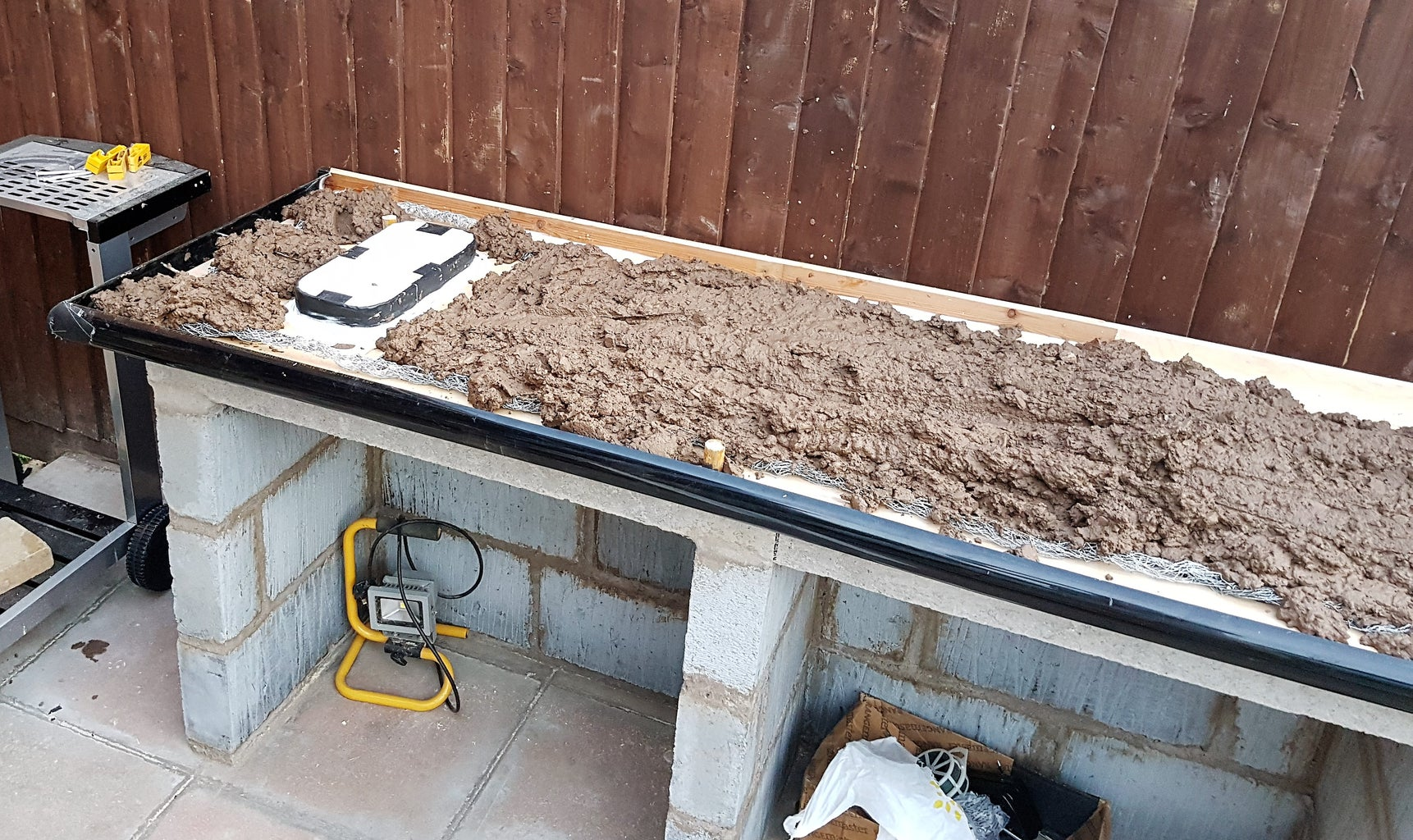 Mixing Concrete and Filling the Form