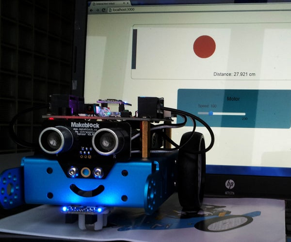 Interactive MBot With JavaScript