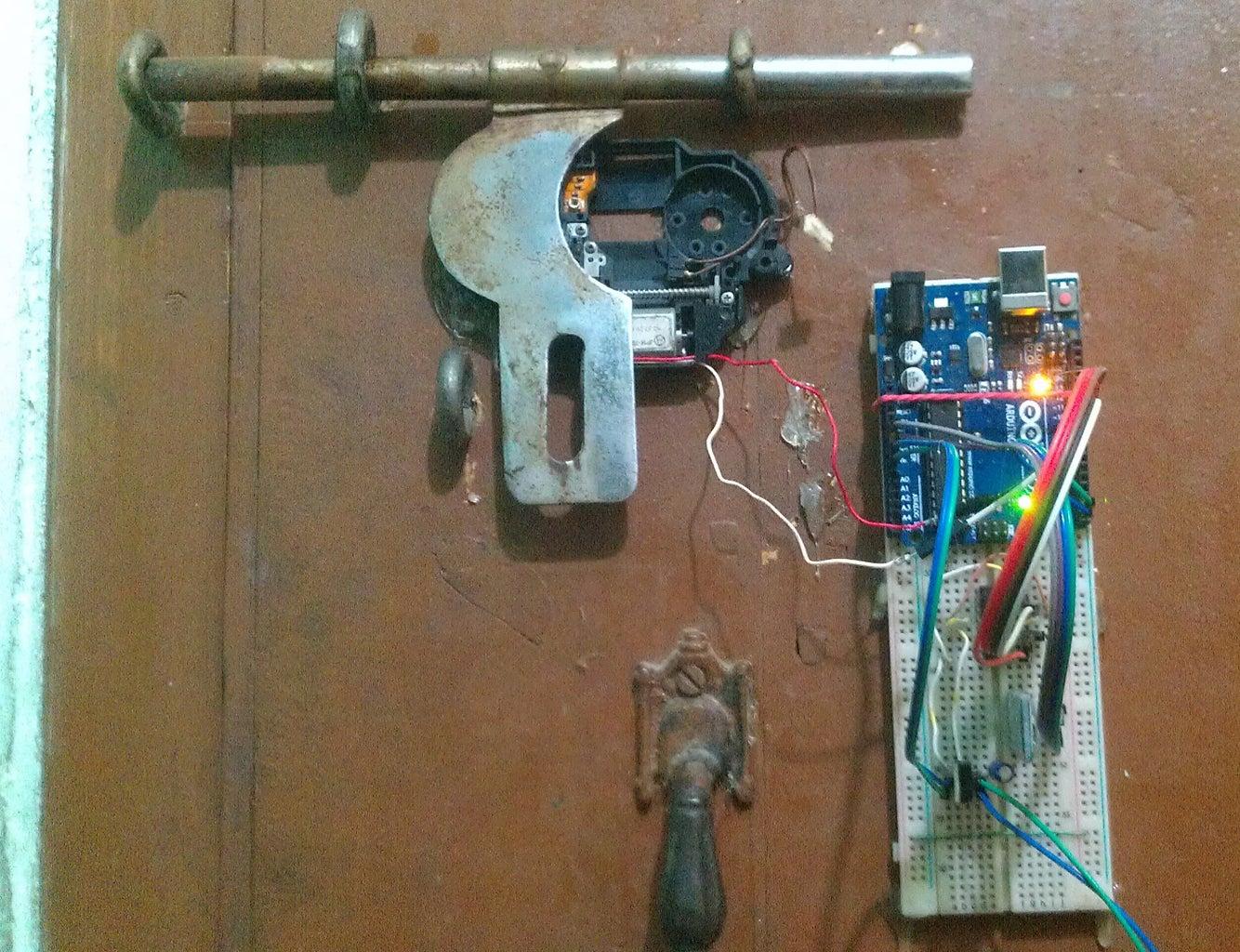 Setup & Working of Bluetooth Control Smart Password Protected Door Lock