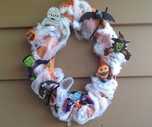 Halloween Candy Wreath (Kids Friendly)